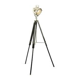Spotlight with tripod, H150 x W22cm, black wood tripod