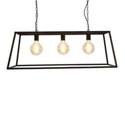 Vienna Triple trapeze chandelier frame, 36 x 100 x 36cm, steel