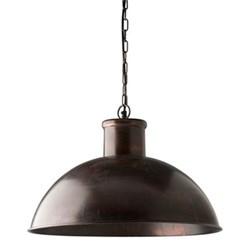 Spitalfield Pendant light, 35 x 50cm, antique copper finish