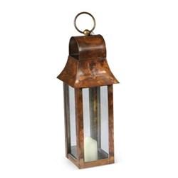 Tonto Lantern - extra small, 38 x 10 x 10cm, burnished copper