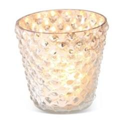 Bubble Votive - large, 10 x 9cm, gold glass