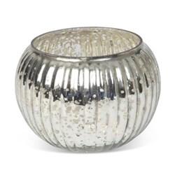 Globe Votive - small, 6 x 9cm, silver glass
