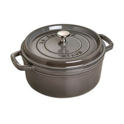 Round cocotte, 28cm, graphite grey