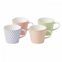 Pastels Accent Set of 4 mugs