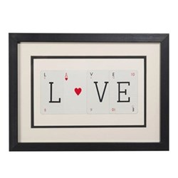 LOVE (WITH HEART) Small frame, 40 x 30cm