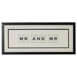 MR AND MR Medium frame, 51 x 20cm