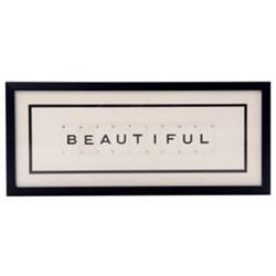BEAUTIFUL Medium frame, 51 x 20cm