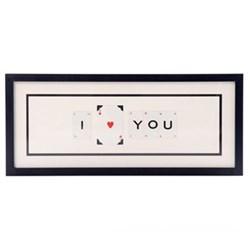 I (HEART) YOU Medium frame, 51 x 20cm
