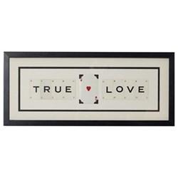 TRUE (HEART) LOVE Medium frame, 51 x 20cm