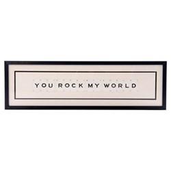 YOU ROCK MY WORLD Large frame, 76 x 20cm