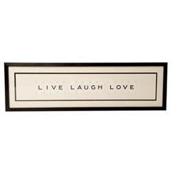 LIVE LAUGH LOVE Large frame, 76 x 20cm