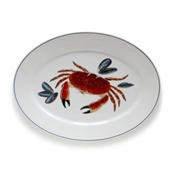 Seaflower Collection Large oval platter, 42cm, Crab