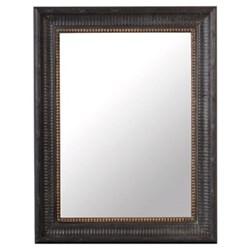 Kinvara Mirror, 68 x 89cm, black