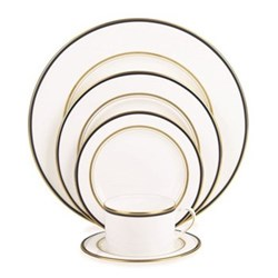 Library Lane Navy 5 piece place setting