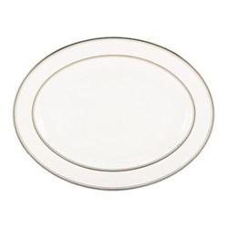 Library Lane Platinum Oval platter, 40cm