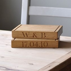 Personalised small board, 23 x 16 x 3.5cm, oak