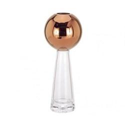 Tank Vase stem, H29cm, copper/glass