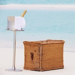 Luxury beach picnic for two