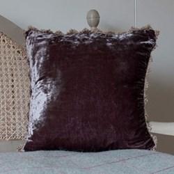 Velvet cushion, 45 x 45cm, charcoal
