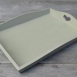 Wooden tray, 28 x 20cm, Celadon