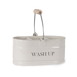 Wash up tidy, H12.5 x W27 x D14cm, chalk