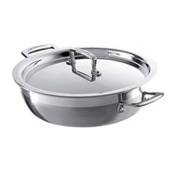 3 Ply Stainless Steel - Uncoated Shallow casserole, 26.5cm - 4.8 litre