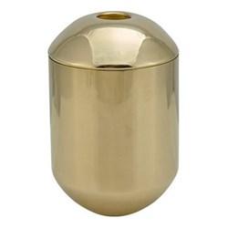 Form Tea caddy, H12.5 x D8.5cm, brass