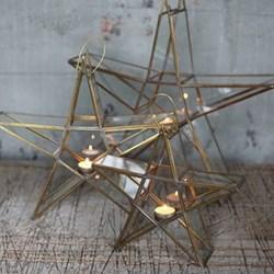 Sanwi Standing star, 35 x 37.5 x 8cm, brass