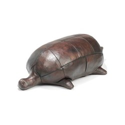 Turtle Small animal footrest, L700 x W300 x H210mm, cowhide leather