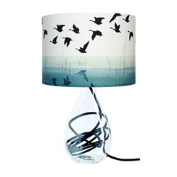 Welsh Reflection Medium lamp, H47cm, black flex