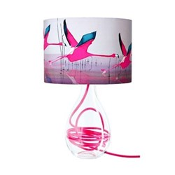 Breaking Dawn Medium lamp, H47cm, raspberry flex
