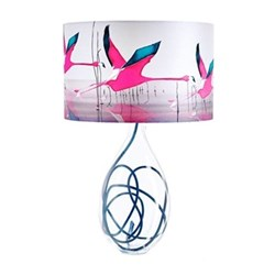 Breaking Dawn Large lamp, H66cm, indigo flex