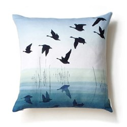 Welsh Reflection Square cushion, 45 x 45cm, linen