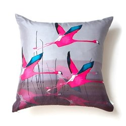 Breaking Dawn Square cushion, 45 x 45cm, silk