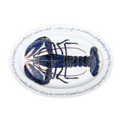 Blue Lobster Oval platter, 39 x 26cm
