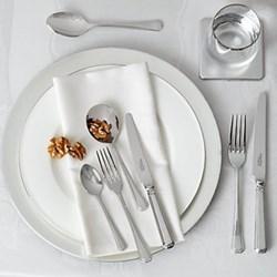 Grecian 44 piece cutlery set, stainless steel
