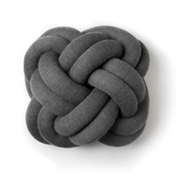 Knot Cushion, 30 x 30 x 15cm, grey