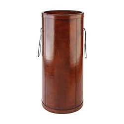 Umbrella holder, H62 x D28cm, tan leather