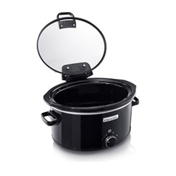 Hinged lid slow cooker, 5.7 litre, black