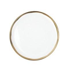 Dauville Set of 4 dinner plates, 26.6cm, gold glaze