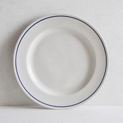Classical Cobalt Blue LIne Dessert plate, 21cm