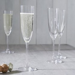 Belgravia Set of 4 champagne flutes, 165ml, clear