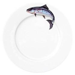 Salmon Flat rimmed plate, 26cm