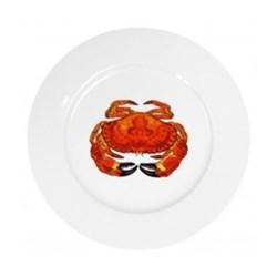 Crab Flat rimmed plate, 19cm
