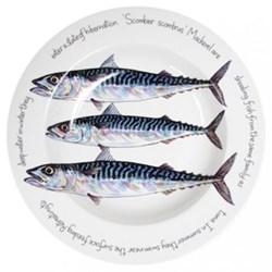 Mackerel Deep rimmed bowl, 30cm