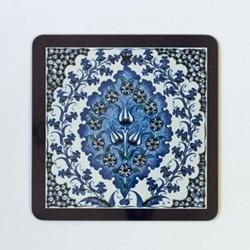 Iznik Bluebell Set of 4 square table mats, 24 x 24cm