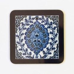Iznik Bluebell Set of 4 square coasters, 10 x 10cm