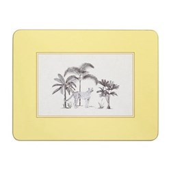 Harlequin Design Extra large serving mats, 38.2 x 29.2cm, yellow with gold edge