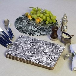 Zebra Glass platter, 30cm