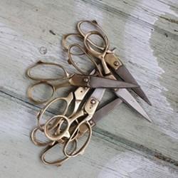 Sandia Scissors, 12.5cm, vintage gold finish